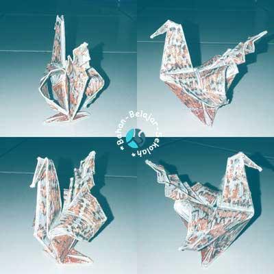 membuat origami burung kertas