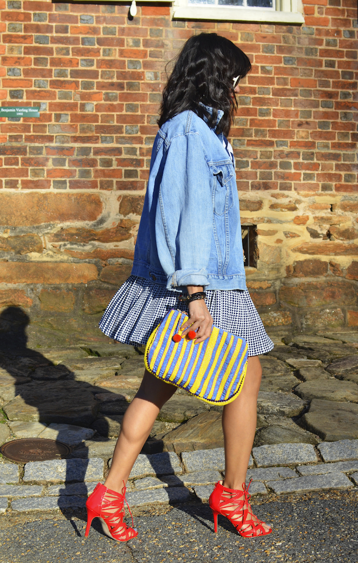 DENIM JACKET WITH SKIRT