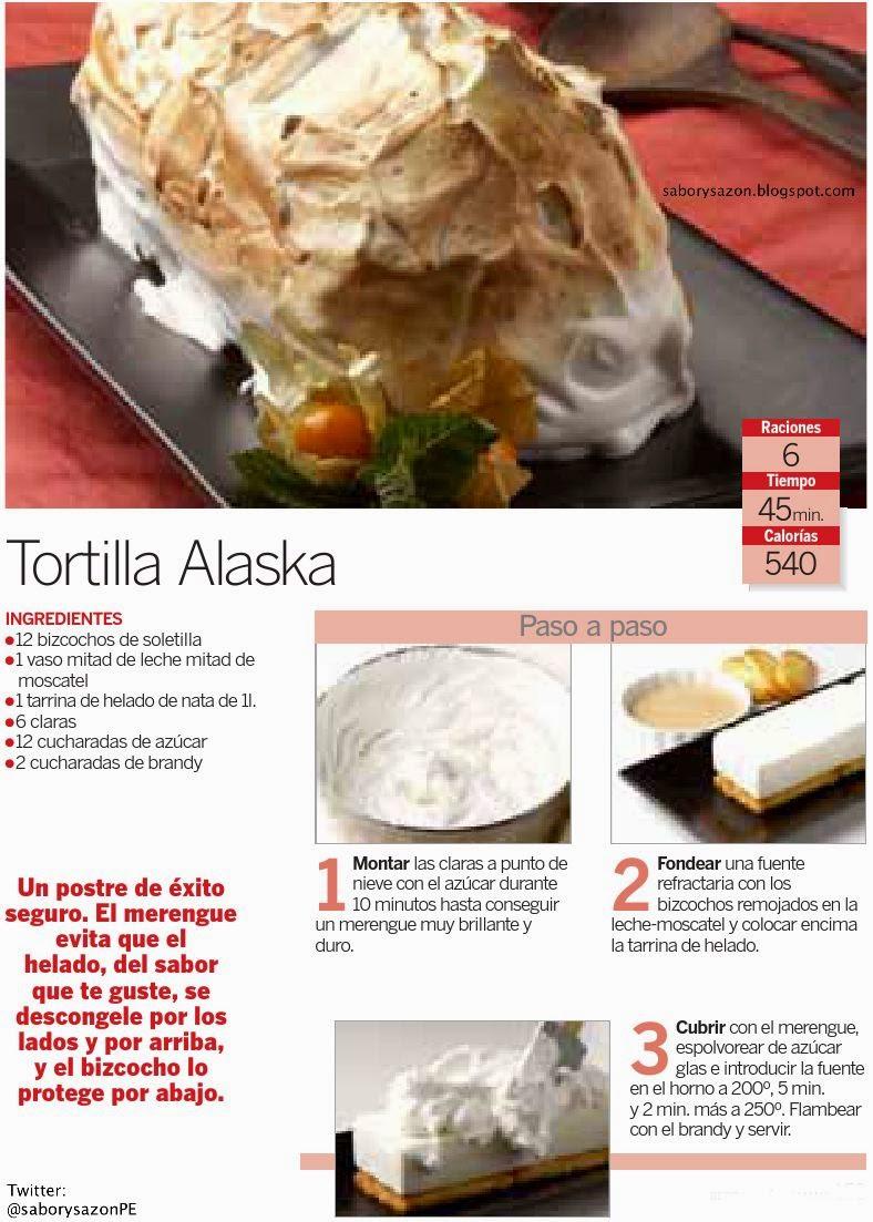 Sabor Sazón Tortilla Alaska Receta Sencilla