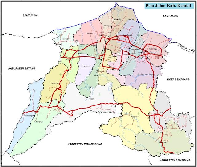 Peta Kabupaten Kendal HD