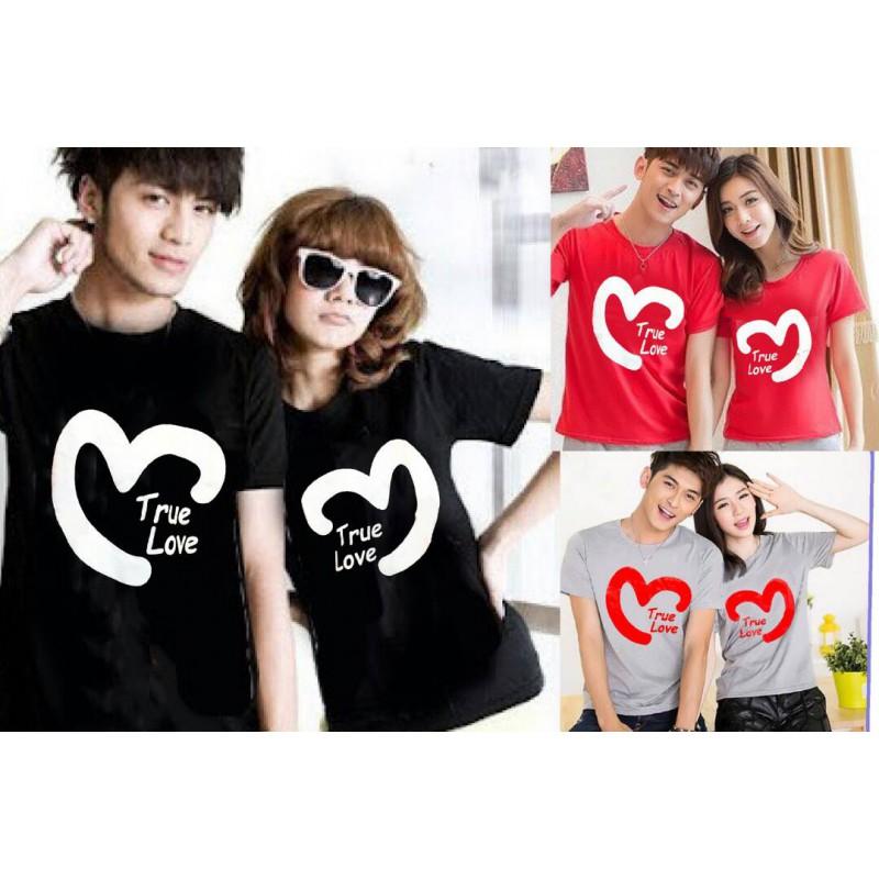 Jual Online True Love Heart Couple Murah Jakarta Bahan Combed Terbaru