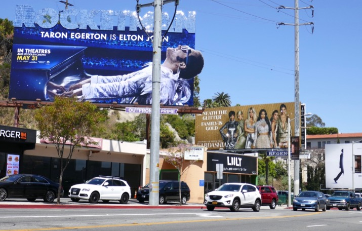 Rocketman Kardashians glittering billboards