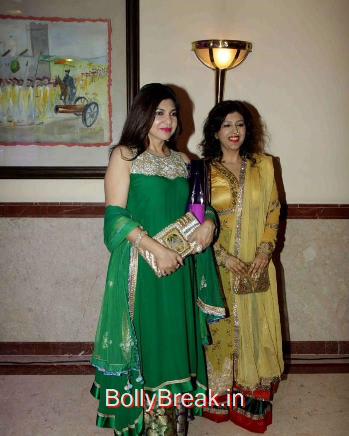 Alka Yagnik, Singer Abhijeet Wedding Anniversary Photo Gallery