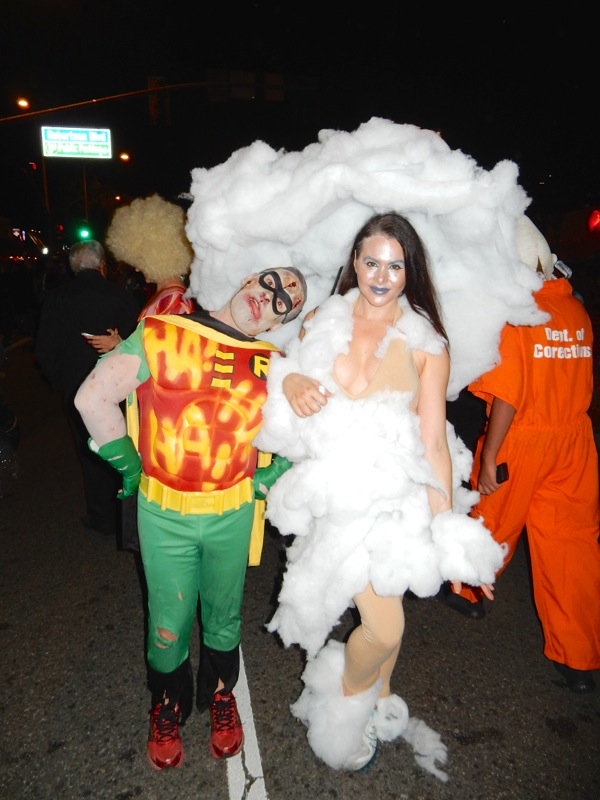 Dead Robin Cloud girl costume West Hollywood Halloween