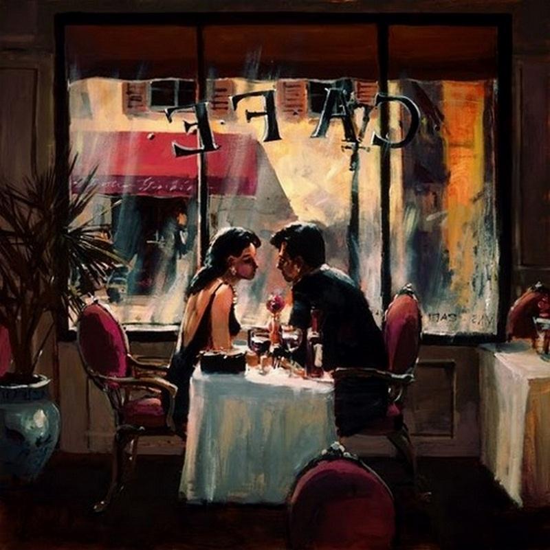 Brent Heighton 1954 Romantic Evening Tutt Art