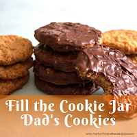 Fill the cookie jar with delicious chewy oatmeal cookies that can be dipped in chocolate.