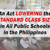 Lowering the Standard Class Size of Public Schools