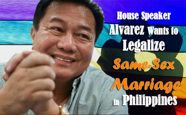 House Speaker Alvarez Wants to Legalize Same-Sex Marriage in Philippines