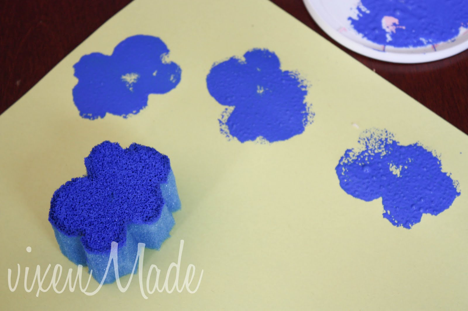 The Sponge Stamps Work Well With Acrylic Paints But You Tend To Use A Lot Of It I Would Suggest Watering Out Bit So Dont Waste Too Much Paint