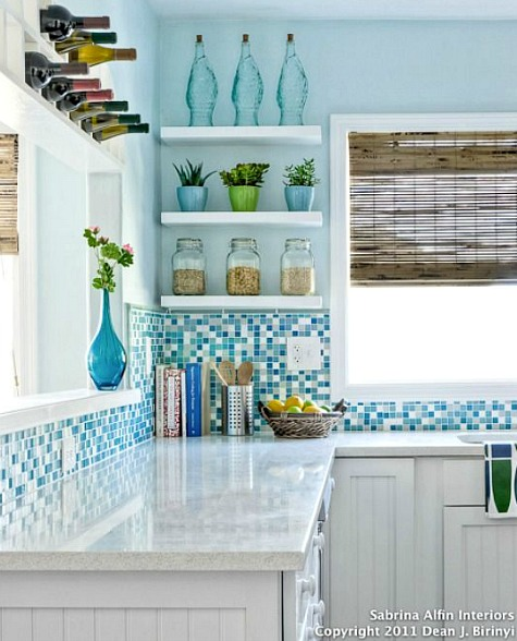Relatively Coastal Kitchen Backsplash Ideas with Tiles | From Beach Murals to  NB95