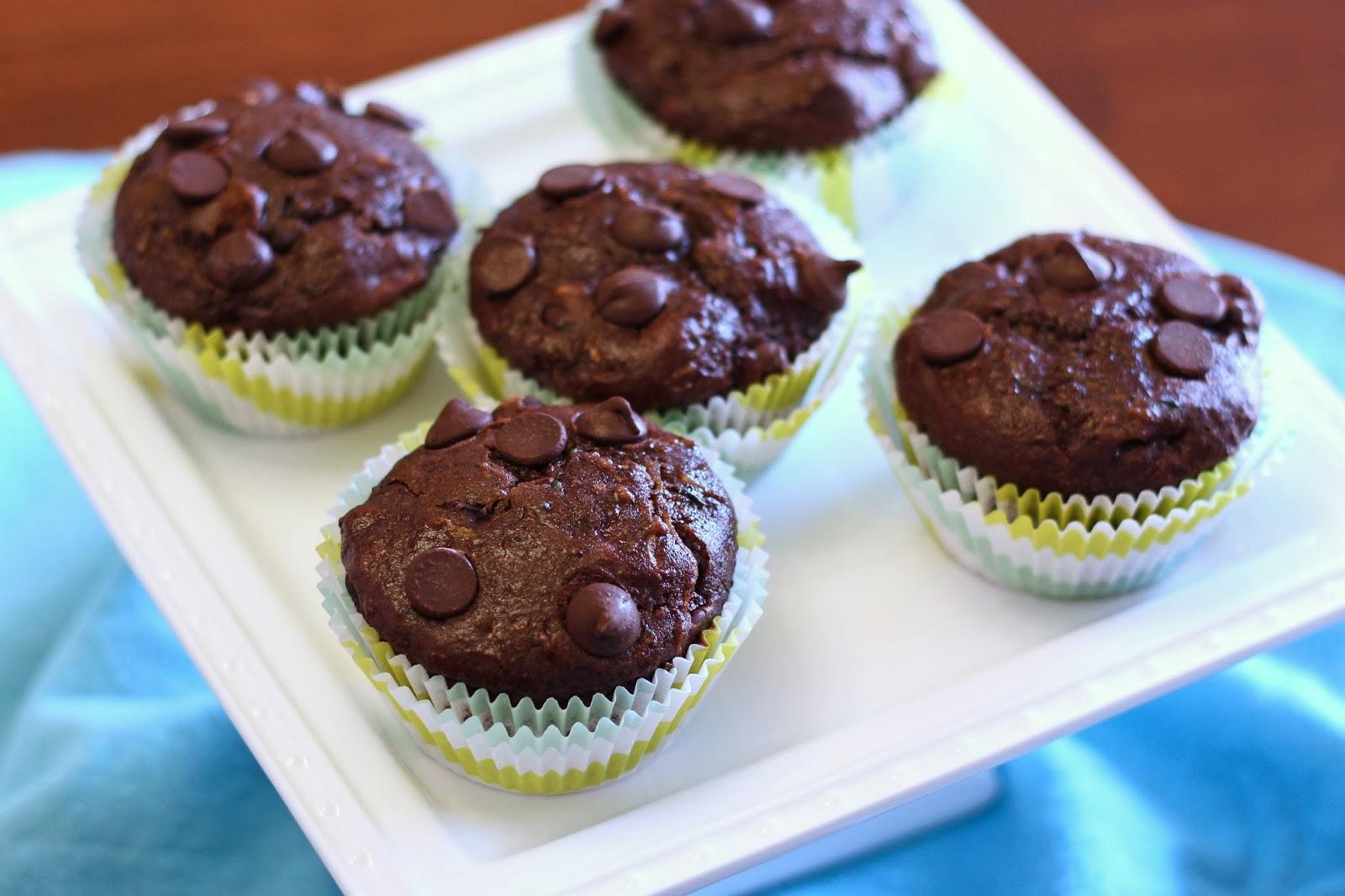 Gluten Free Vegan Double Chocolate Zucchini Muffins Sarah Bakes