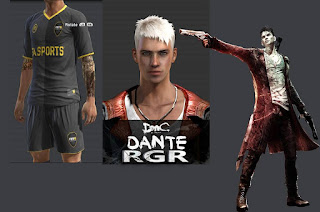 DMC Dante Face with full tattoos Pes 2013 By Rgr DS