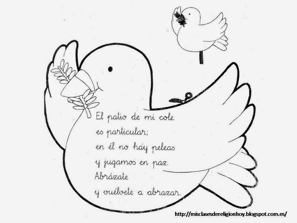 Imágenes Para Colorear Dibujos Del Día De La Paz: MATERIALES DE RELIGIÓN CATÓLICA: 30 De Enero. Día De La