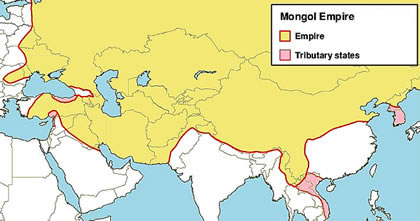 Mongol Empire during the reign of Mongke Khan