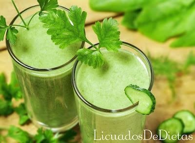 dieta a base de jugos y licuados con pepino