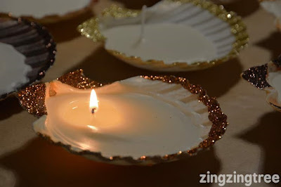 How to turn seashells into candles