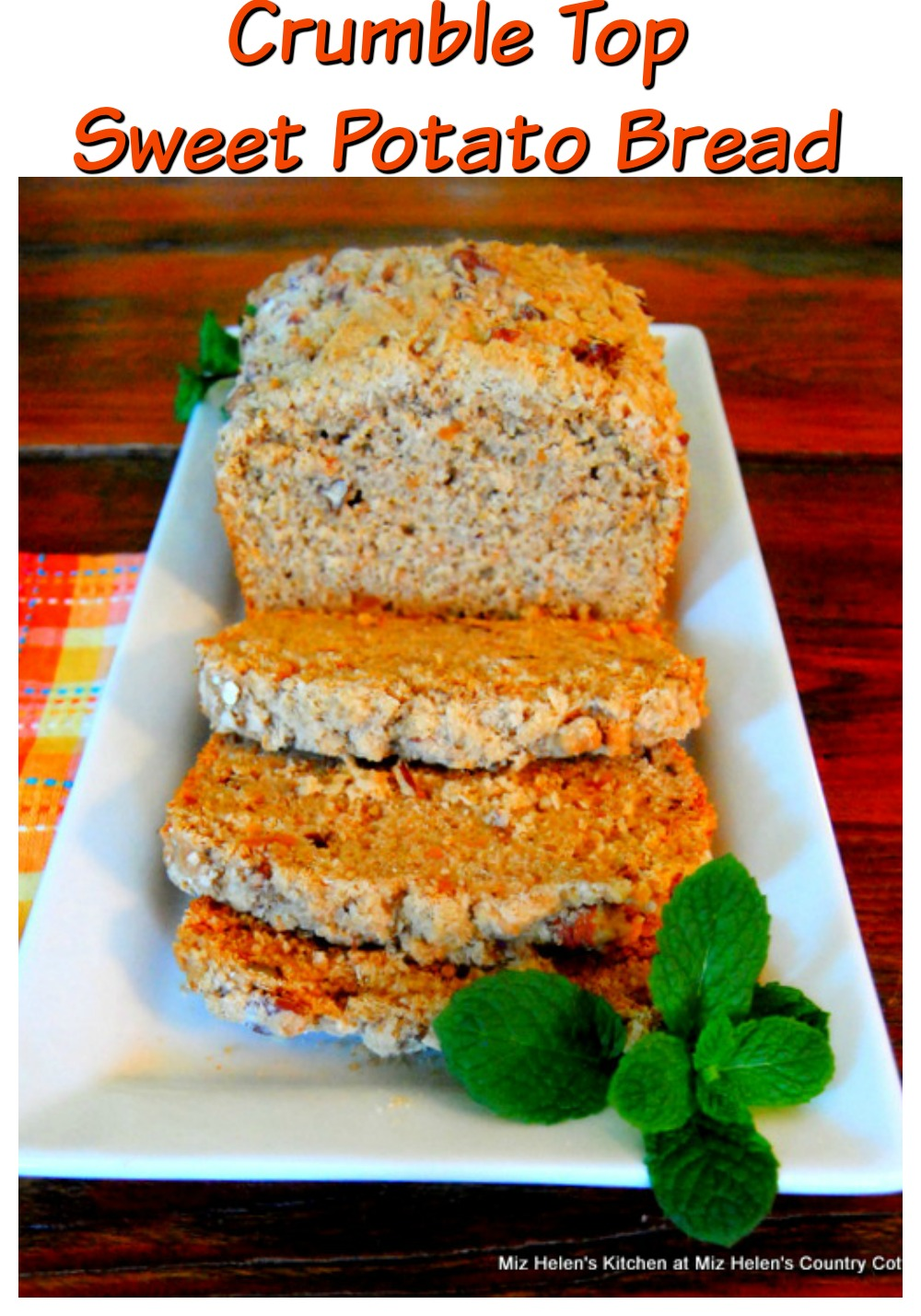 Crumble Top Sweet Potato Bread