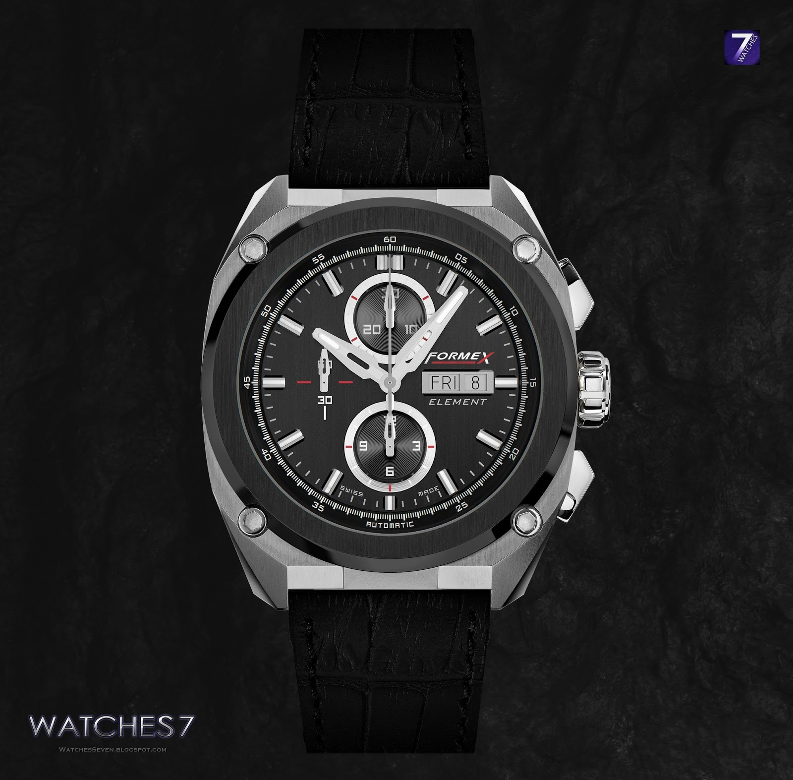 Watches 7 formex element ceramic bezel black hero for Black bezel watches