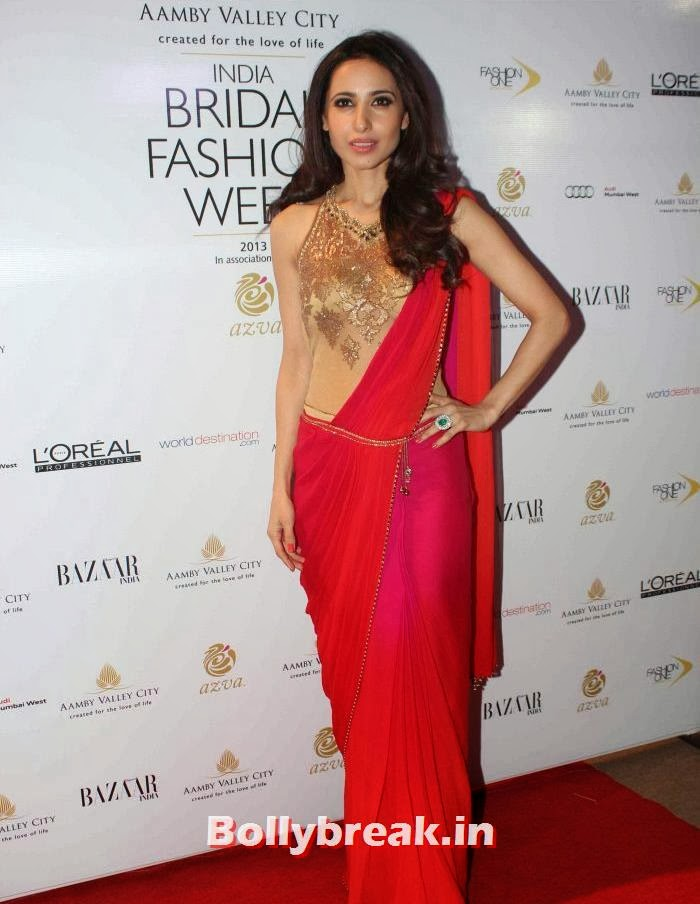 Mandira Wirk, Hot Celebs at India Bridal Fashion Week 2013