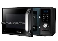 Logo Samsung Forno a Microonde, 800 W, da 23 litri, Grill 1100W: Sconto 45% !
