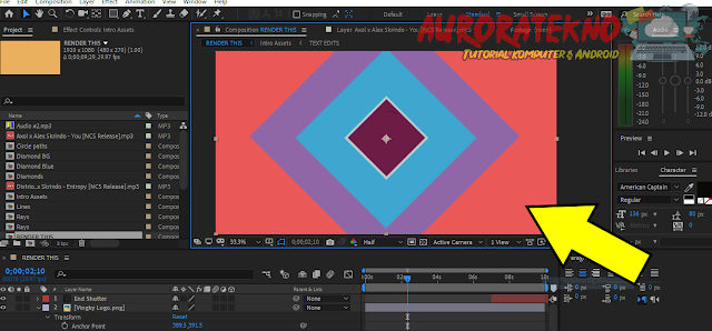 Cara Mengganti Warna Pada Background/Objek Tertentu Di Adobe After Effects
