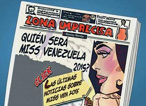 front page cómic Miss Venezuela 2015