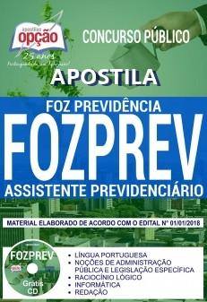 Apostila Assistente Previdenciário FOZPREV 2018