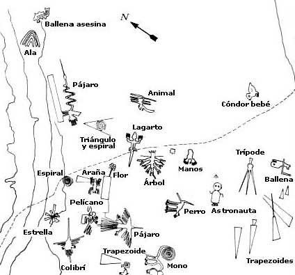 Mapa de las Lineas de Nazca
