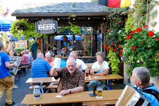 Beer Garden Leavenworth Washington USA