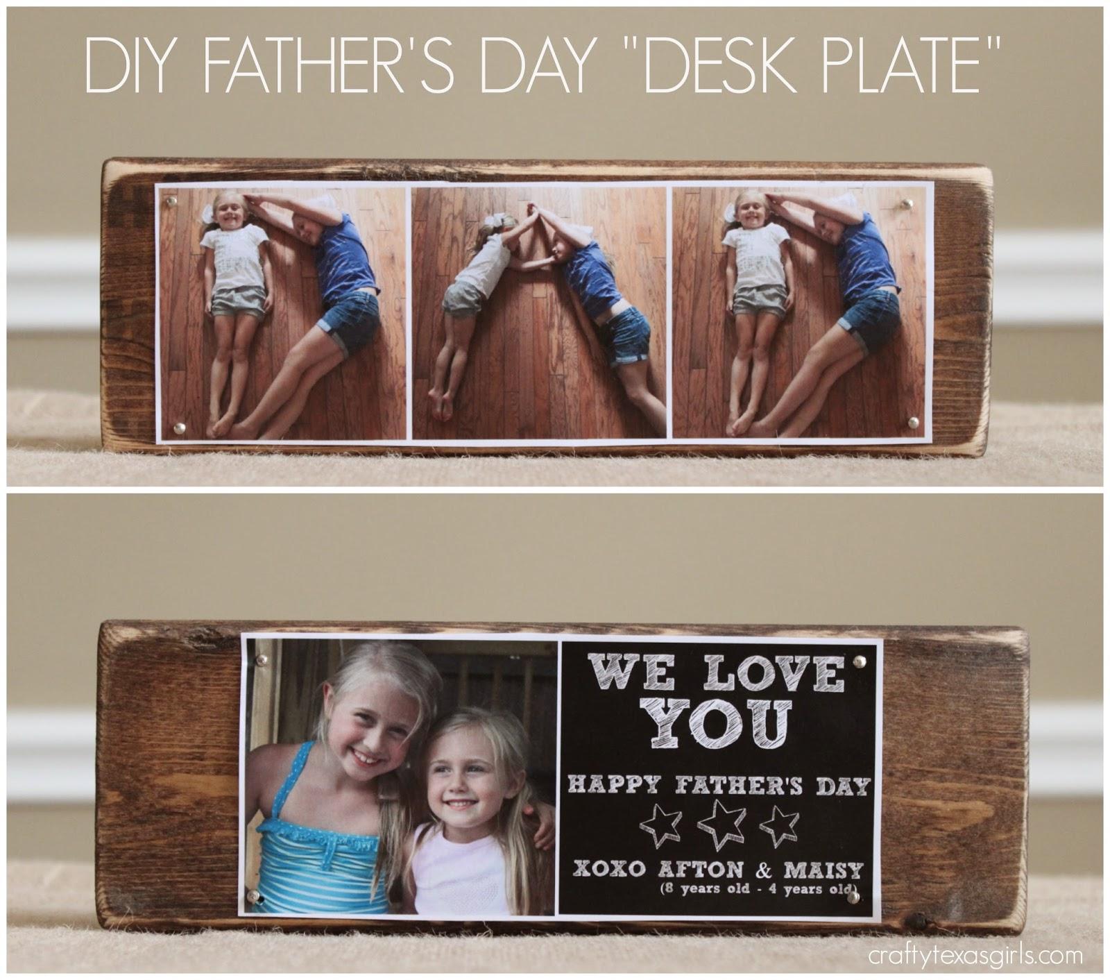 Crafty Texas Girls Diy Father S Day Desk Plate