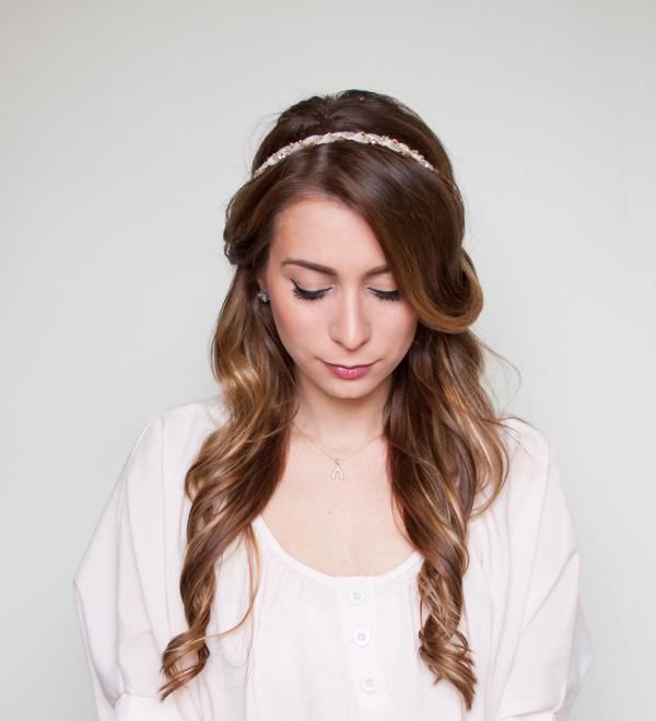 15 Stylish Half Up Half Down Tutorials: Easy Half Up, Half Down Hair Wrap Tutorial