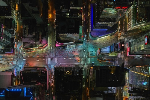 Jeffrey Milstein - NY Times Square | chidas fotos cool stuff - aerial photos of NYC