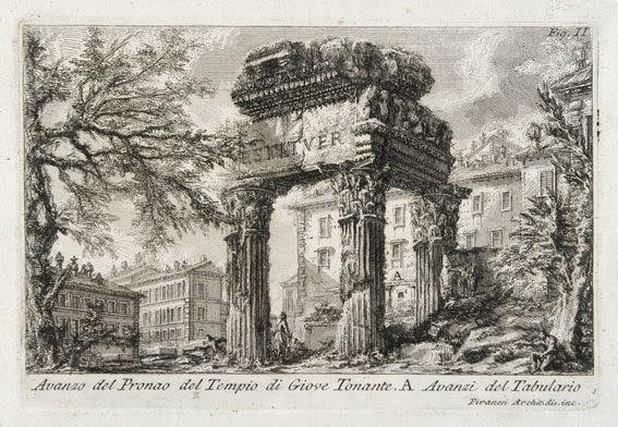 Giove Tonante Piranesi 1 - 23 Monumentos do Fórum Romano