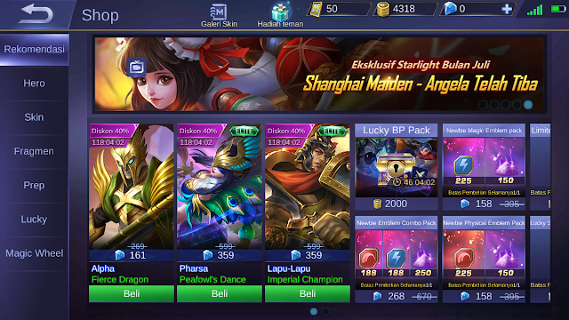 Tutorial Curang Membeli Hero Mobile Legends Dengan Modal 2000 Bp 1