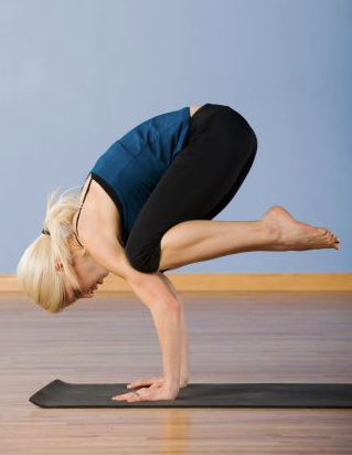 getting into crow pose  shaping up with melissa