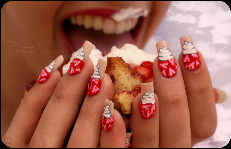 nail tartofraises nails designs lv arts acrylic 3d