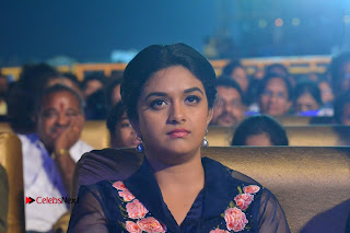 Actress Keerthi Suresh Stills in Blue Long Dress at Nenu Local Audio Launch  0065.JPG