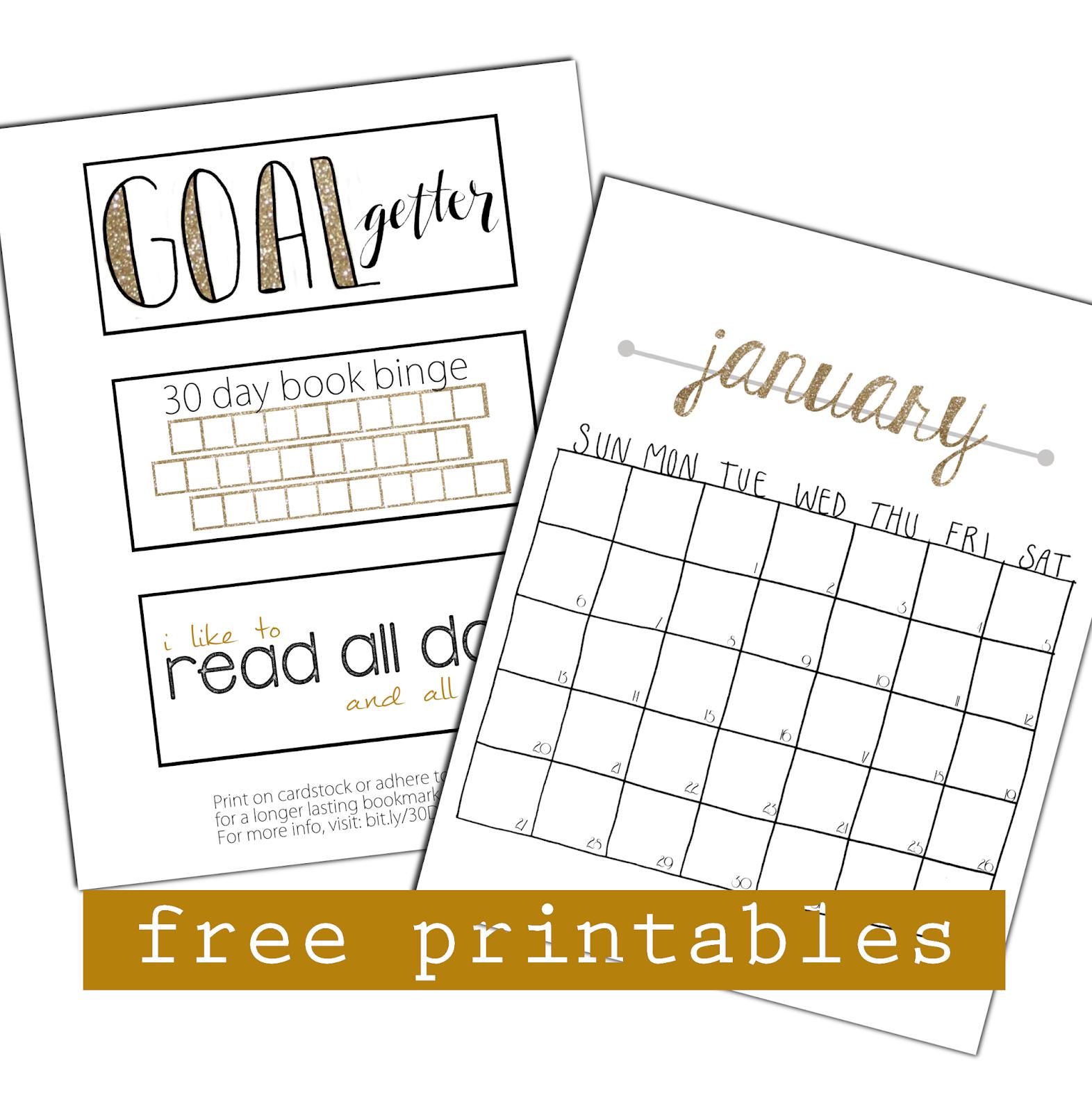 - The Book Rat: 30 Day Book Binge (7) FREE PRINTABLES!