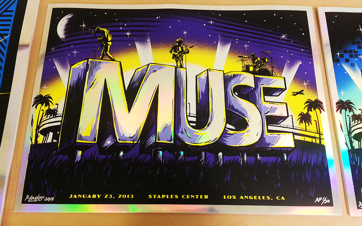 Poster design staples - Muse Mark 5 Los Angeles Inside The Rock