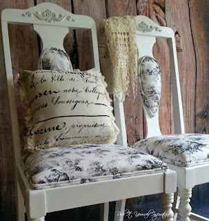 plain chair into French flair makeover