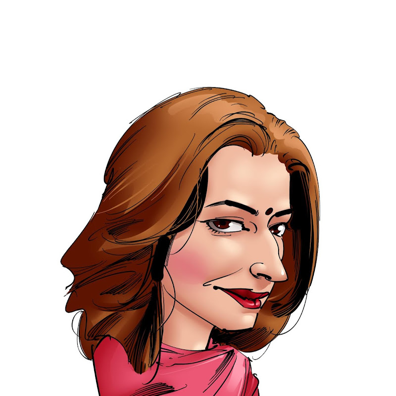 funny cartoon caricature sanghamitra