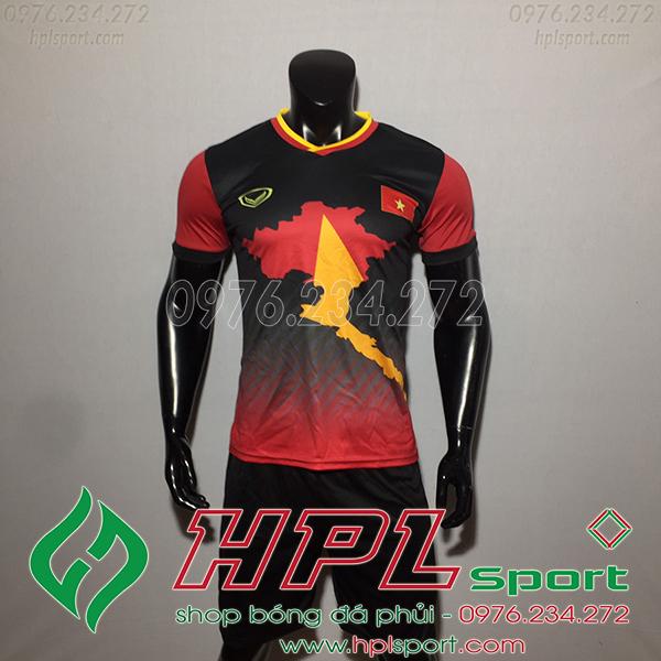 Áo bóng đá đội tuyển Việt Nam bản đồ đen