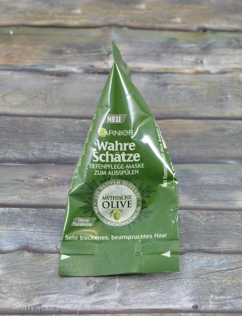 Garnier wahre Schätze Tiefenpflege Maske zum Ausspülen Mythische Olive