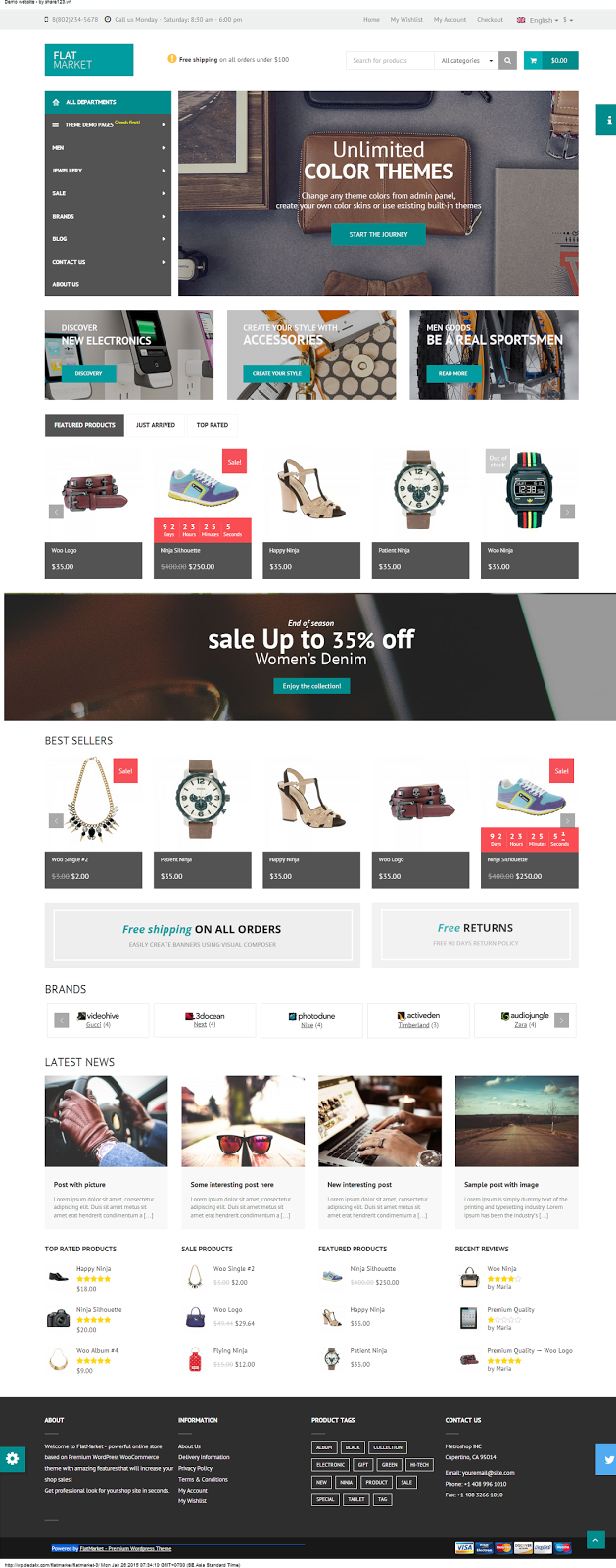 Theme wordpress shop bán hàng FlatMarket v1.6