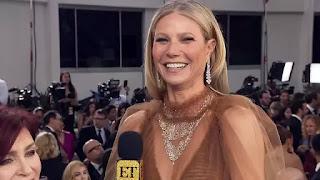 Gwyneth Paltrow brinca sobre seu vestido antes de ser 'Over the Hill' - Globos de Ouro 2020