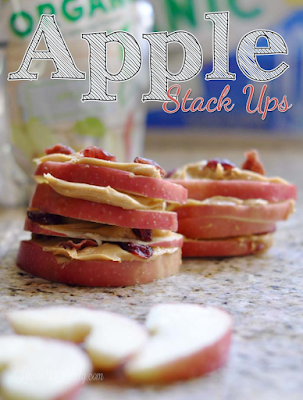 These Apple Stack Ups sound like such a great snack idea for kids!  This site even has a cute printable note you can pair with the snacks. Perfect for school!