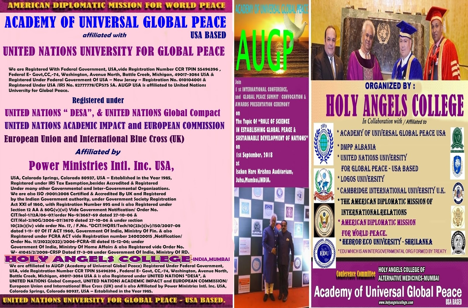 THE UNITED NATIONS UNIVERSITY FOR GLOBAL PEACE – USA