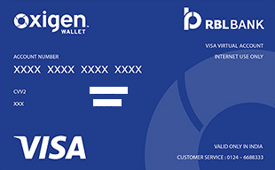 Oxigen Wallet Virtual Credit Card