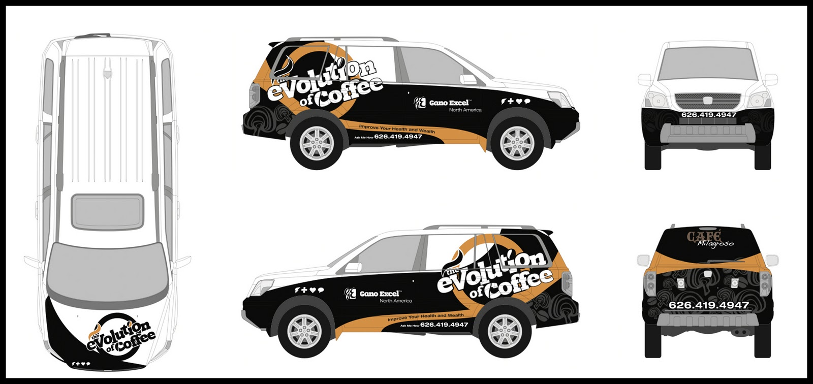 Free Car Wrap Templates commercial cargo van car wrap mockup – Smart Car Wrap Template
