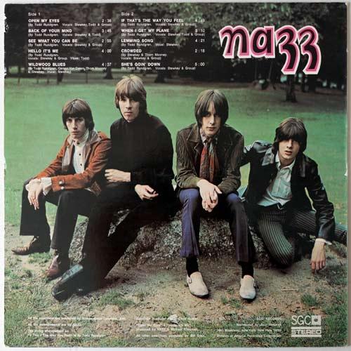 Nazz, contraportada de primer LP 1968